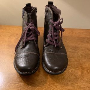 Clark's Leather Ankle Boots